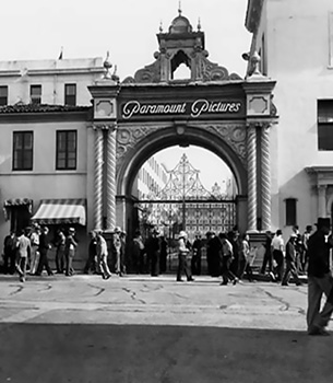 Paramount Pictures Marathon Arch during 1937 film strike
